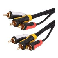 Just Hook It Up 12 Ft. Triple RCA Composite A/V Cable