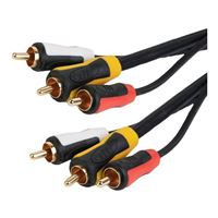 Just Hook It Up 6 ft. Triple RCA Composite Audio/Video Cable