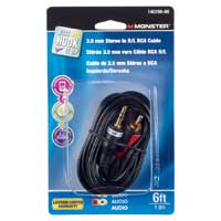 Just Hook It Up 6 ft. 3.5mm Male Stereo Plug to Dual RCA Male Plugs