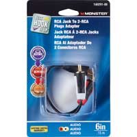 Just Hook It Up 140291-00 RCA Female to 2 RCA Male Adapter