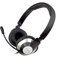 Creative Labs HS-720 ChatMax USB On Ear Stereo Headset - Black/Silver