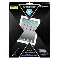 Xtreme Cables Leather Folio & Stand for iPad 2/3 - Black