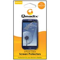 Qmadix 3-Pack Clear Screen Protectors for Samsung Galaxy S III