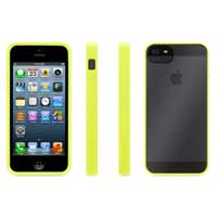 Griffin Reveal Case for iPhone 5 - Neon Green/Clear