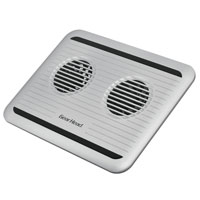 Gear Head Notebook Cooler with Dual 80mm - Silver