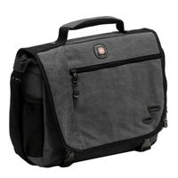 "Swiss Gear Zinc Laptop Briefcase Fits Screens up to 14.1"" - Gray/Khaki"