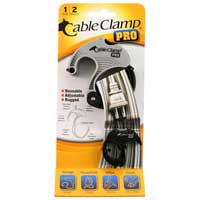 QA Worldwide Cable Clamp PRO 1 Small/2 Medium - Platinum/Black