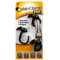 QA Worldwide Cable Clamp PRO 3 Small - Black