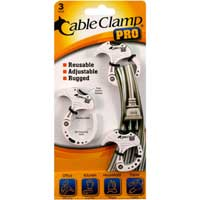QA Worldwide Cable Clamp PRO 3 Small - White