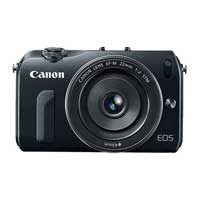 Canon EOS M EF-M 18 Megapixel ILC Digital SLR Camera Kit  with 22mm STM Lens  - Black