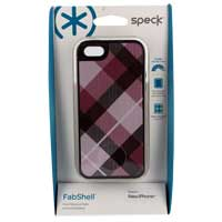 Speck Products FabShell MegaPlaid for iPhone 5 Mulberry Pink/Black