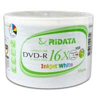 Ridata Hub Printable DVD-R 16x 50 Pack
