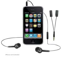 MacAlly iPhone 3G TunePal Stereo Hands-Free Headset and Audio Splitter