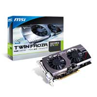 MSI N660 TF 2GD5/OC NVIDIA GeForce GTX 660 Twin Frozr III Overclocked 2048MB GDDR5 PCIe 3.0 x16 Video Card