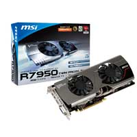 MSI R7950 TF 3GD5/OC AMD Radeon HD 7950 Twin Frozr III Overclocked 3072MB GDDR5 PCIe 3.0 x16 Video Card