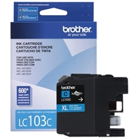 Brother LC103C High Yield Cyan Inkjet Cartridge
