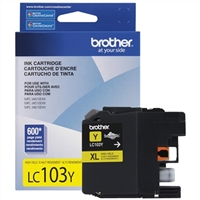 Brother LC103Y High Yield Yellow Inkjet Cartridge