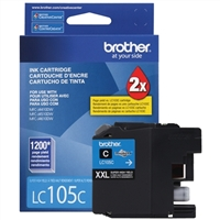 Brother LC105C Super High Yield Cyan Inkjet Cartridge