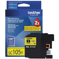 Brother LC105Y Super High Yield Yellow Inkjet Cartridge