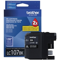Brother LC107BK Super High Yield Black Inkjet Cartridge