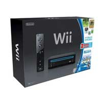 Nintendo Wii System Black Sports Resort