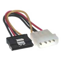 Purex 4-Pin Molex to 15-pin SATA Power Cable with Locking Clip