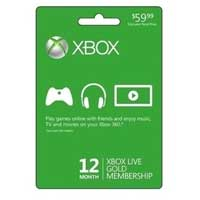 Microsoft XBOX Live 12 Month Gold Membership Card