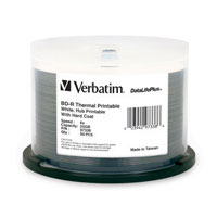 Verbatim Thermal Printable BD-R 6x 25GB Disc 50 Pack Spindle