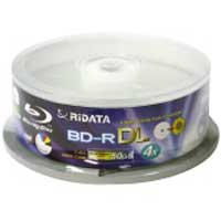 Ridata Hub Printable Blu-Ray BD-R DL 4X 50GB 15 Pack