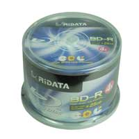 Ridata Hub Printable Blu-Ray BD-R 4X 25GB 50 Pack