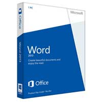 Microsoft Word 2013 32/64-bit English Medialess (PC)