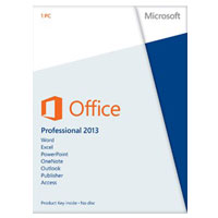 Microsoft Office Professional 2013 32/64-bit English Medialess (PC)