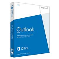 Microsoft Outlook 2013 32/64-bit English Medialess (PC)