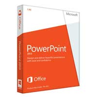 Microsoft PowerPoint 2013 32/64-bit English Medialess (PC)