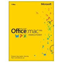 Microsoft Office 2011 Home and Student - Medialess (Mac)