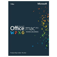 Microsoft Office 2011 Home and Business - Medialess (Mac)