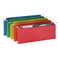 Ideastream Mini Hanging File Folders with Assorted Colors  6-Pack