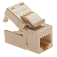 Platinum Tools EZ-SnapJack Cat 6 4-Pack Almond