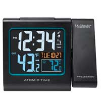 La Crosse Technology Colored Screen Atomic Projection Alarm Clock