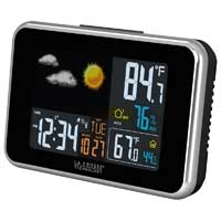 La Crosse Technology Wireless Colored Weather Station with Forecast Black