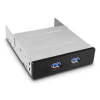 "Vantec UGT-IH203 2-Port Front Panel USB 3.0 3.5"" Drive Bay Insert - Black"