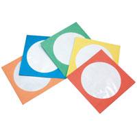 Inland Paper Sleeves 200-Pack - Multi-Color