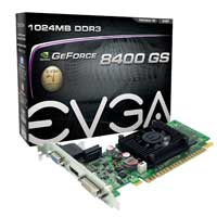 EVGA 01G-P3-1302-RX NVIDIA GeForce 8400GS 1024MB DDR3 PCIe 2.0 x16 Video Card Refurbished