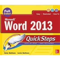 McGraw-Hill WORD 2013 QUICKSTEPS
