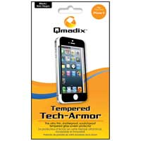 Qmadix Tempered Tech-Armor Case for iPhone 5 Black