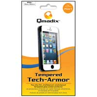 Qmadix Tempered Tech-Armor Case for iPhone 5 White