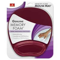 Handstands Memory Foam Mousepad with Built-in Wrist Rest - Plum