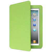 Aluratek Ultra Slim Non-Slip Grip Folio with Bluetooth Keyboard for iPad 2/3/4 Green Apple