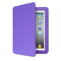 Aluratek Ultra Slim Non-Slip Grip Folio with Bluetooth Keyboard for iPad 2/3/4 Grape Jelly