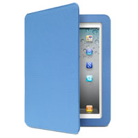 Aluratek Ultra Slim Non-Slip Grip Folio with Bluetooth Keyboard for iPad 2/3/4 Blue